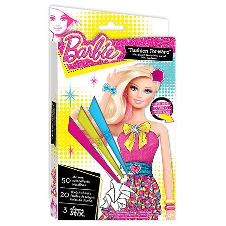 Мини-портфолио Fashion Angels Барби с восковыми мелками