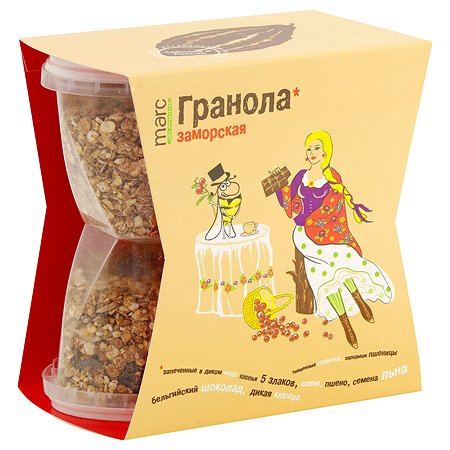 Гранола Marc&Фиса Заморская шоколад-клюква-фундук 390г