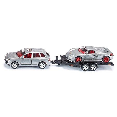 Масштабная модель SIKU Машина с прицепом и спортивной машиной