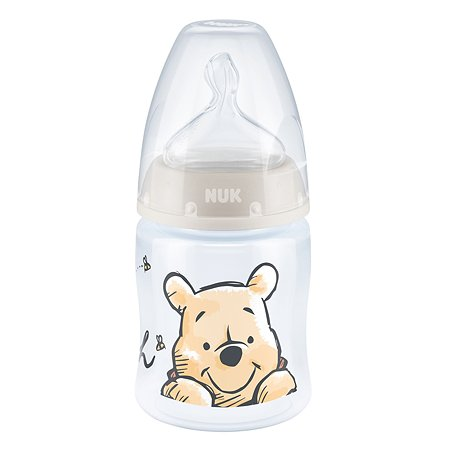 Бутылочка Nuk First Choice Plus Дисней Медвежонок Винни 150мл Бежевая