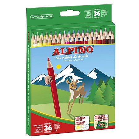 Карандаши ALPINO цветные шестигранные 36 цв.