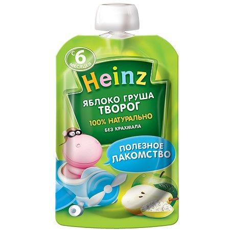 Пюре Heinz яблоко-груша-творог пауч 90г с 6месяцев