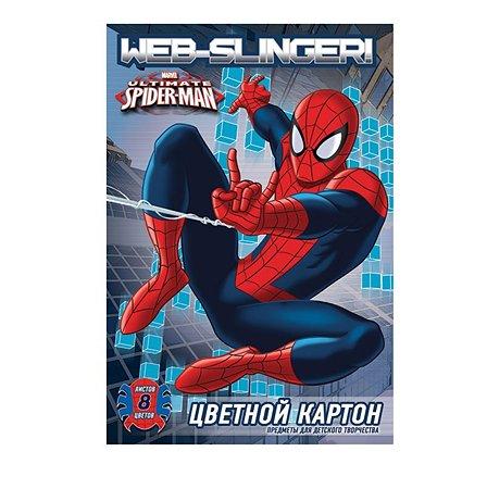 Картон цветной Академия Холдинг 8цв 8 л Spider-man