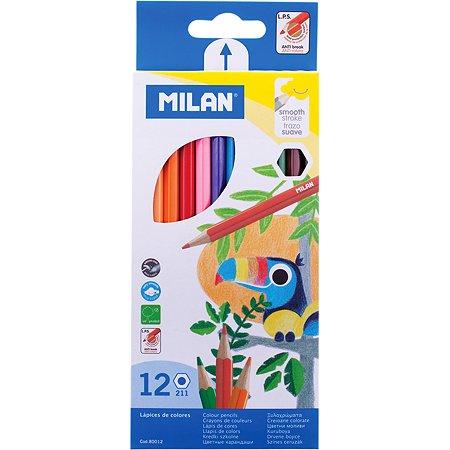 Цветные карандаши MILAN 211 12 цветов