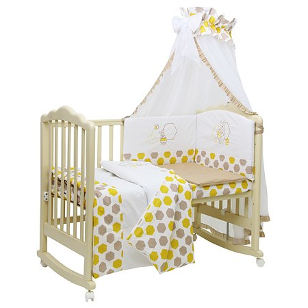 Комплект в кроватку Polini kids Disney Baby Медвежонок Винни и его друзья 7 предметов 0001566-6