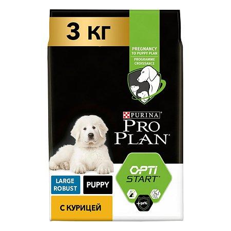 Корм для щенков PROPLAN крупных пород с мощным телосложением с комплексом Optistart c курицей и рисом 3кг
