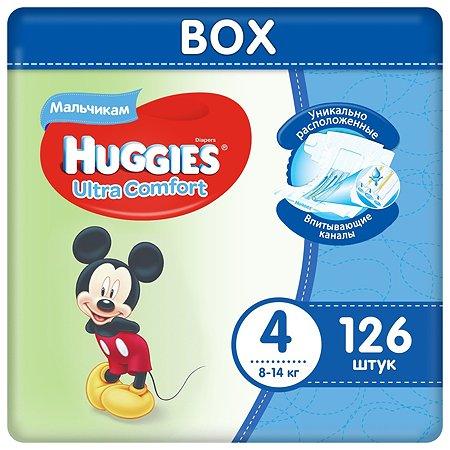 Подгузники Huggies Ultra Comfort для мальчиков 4 8-14 кг Disney Box 126 шт