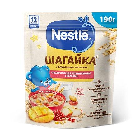 Каша молочная Nestle мультизлаковая с фигурками из пшеницы яблоко-манго-гранат 190г с 12месяцев