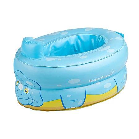 Дорожные горшки и аксессуары ROXY-KIDS Горшок надувной компактный дорожный PocketPotty Динозавр от ROXY-KIDS, цвет голубой ROXY-KIDS