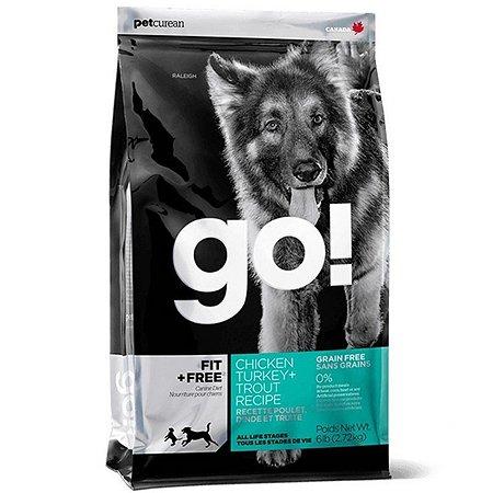 Корм для собак GO беззерновой с курицей индейкой уткой лососем сухой 2.72кг