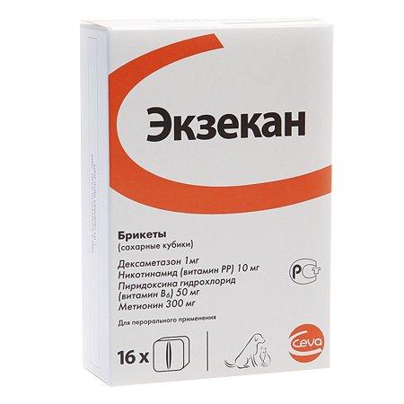 Препарат антигистаминный для собак и кошек CEVA Экзекан №16 таблетки