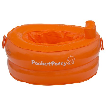 Дорожные горшки и аксессуары ROXY-KIDS Горшок надувной компактный дорожный PocketPotty от ROXY-KIDS, цвет оранжевый ROXY-KIDS