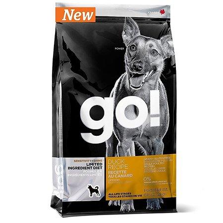 Корм для собак GO для чувствительного пищеварения беззерновой с уткой сухой 11.3кг