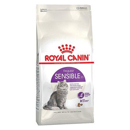 Корм сухой для кошек ROYAL CANIN Sensible 33 15кг с чувствительной пищеварительной системой