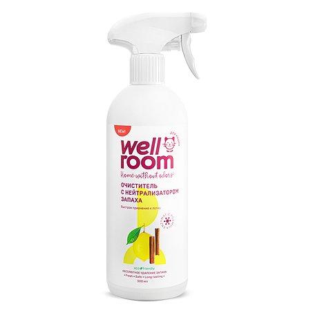 Очиститель Wellroom с нейтрализатором запаха против меток кошки 500 мл корица цитрус Wellroom