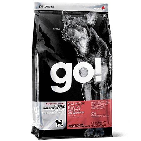 Корм для собак GO для чувствительного пищеварения беззерновой с лососем сухой 2.72кг