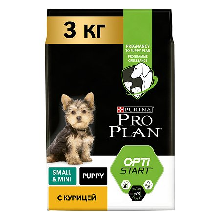 Корм для щенков PROPLAN мелких и миниатюрных пород с комплексом Optistart с курицей и рисом 3кг
