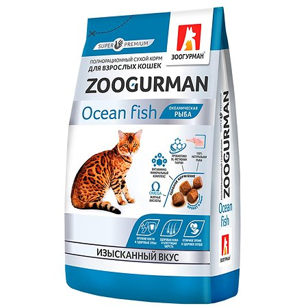 Корм сухой для кошек Зоогурман Gourmet 350г океаническая рыба