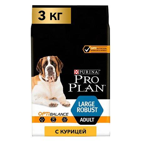 Корм для собак PROPLAN крупных пород с мощным телосложением с комплексом Optibalance с высоким содержанием курицы 3кг