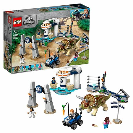 Конструктор LEGO Jurassic World Нападение трицератопса 75937