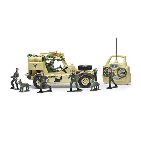 Военный джип на радиоуправлении Mioshi 30см