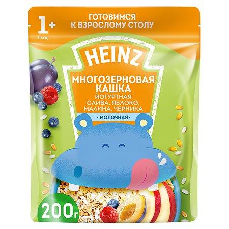 Каша Heinz йогуртовая многозерновая с малиной и черникой 200г с 12месяцев