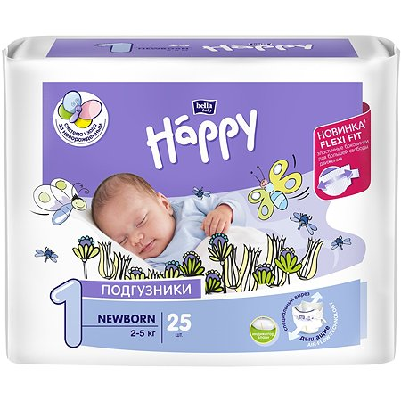Подгузники Bella baby Happy Newborn 1 2-5кг 25шт