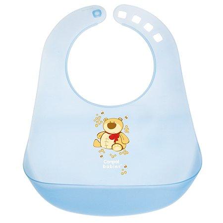 Нагрудник Canpol Babies пластиковый Голубой