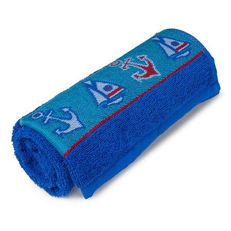 Полотенце Cleanelly Морской 70х120 цв.синий хангер