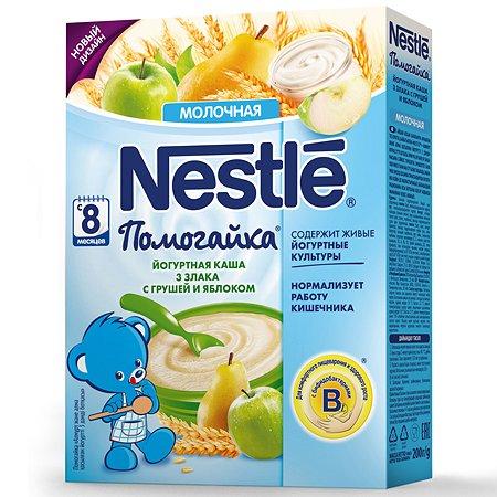 Каша Nestle молочная йогуртовая 3 злака-яблоко и груша 200 г с 8 месяцев
