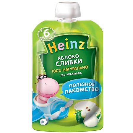 Пюре Heinz яблоко-сливки пауч 90г с 6месяцев