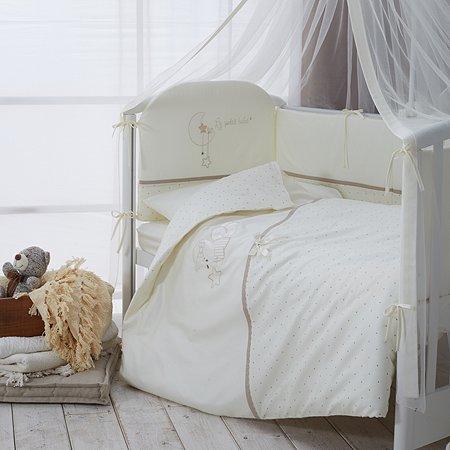 Комплект постельного белья Perina LE PETIT BEBE для детей 3 предмета кофейный