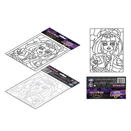 Витражная картина Monster High 17х13 см
