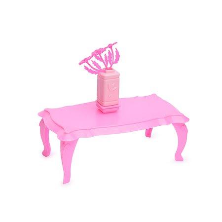Журнальный столик Огонек для куклы розовый