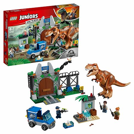 Конструктор LEGO Juniors Побег Ти-Рекса 10758
