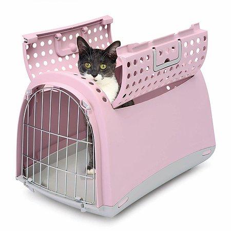 Переноска для кошек и собак IMAC linus cabrio большая Пепельно-розовая