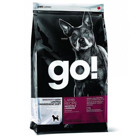 Корм для собак GO для чувствительного пищеварения беззерновой с ягненком сухой 11.3кг