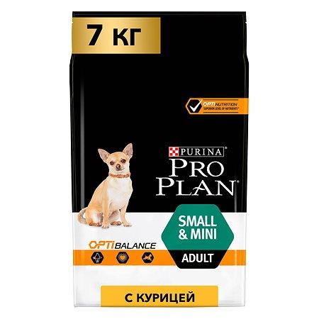Корм для собак PROPLAN мелких и миниатюрных пород с комплексом Optibalance курица с рисом 7кг