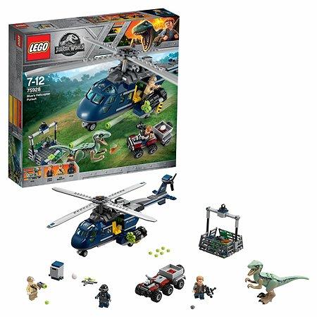 Конструктор LEGO Jurassic World Погоня за Блю на вертолёте 75928