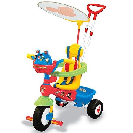 Велосипед Kiddieland 3-колесный Микки Маус с ручкой KID 043646