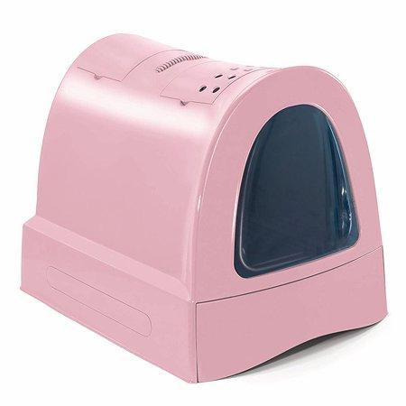Туалет для кошек IMAC zuma закрытый большой Пепельно-розовый