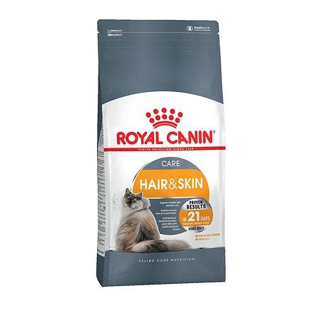 Корм сухой для кошек ROYAL CANIN Hair/Skin Care 10кг для поддержания здоровья кожи и шерсти