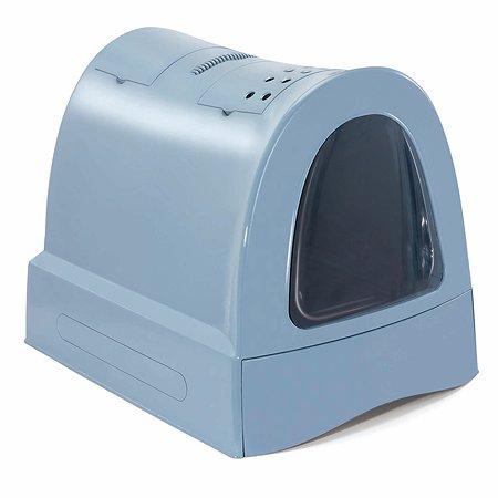 Туалет для кошек IMAC zuma закрытый большой Пепельно-синий