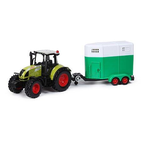 Машинка Mobicaro 1:32 Claas Tractor с загоном для лошадей