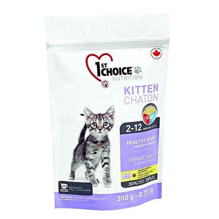 Корм для котят 1st Choice Здоровый старт цыпленок 350г