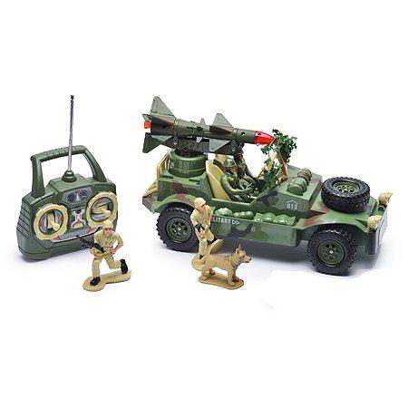 Военный джип на радиоуправлении Mioshi с ракетной установкой