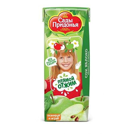 Сок Сады Придонья яблоко прямого отжима 0.2л с 4 месяцев