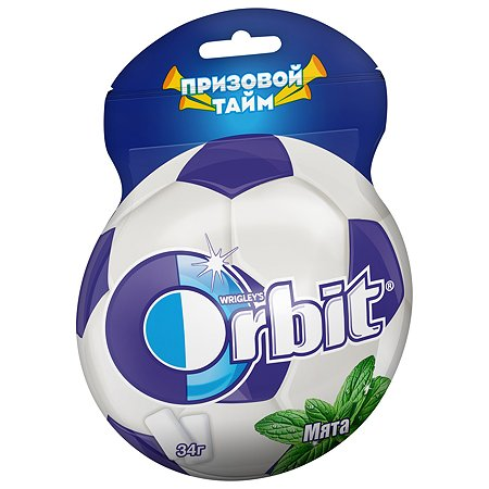 Жевательная резинка Орбит Мята 34г в форме мяча