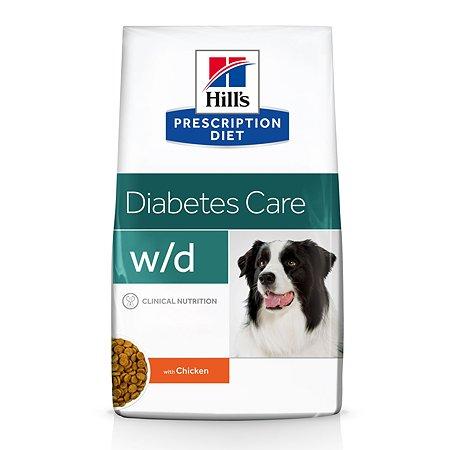 Корм для собак HILLS Prescription Diet w/d Digestive/Weight Management при диабете с курицей сухой 12кг