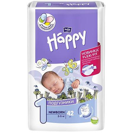 Подгузники Bella baby Happy Newborn 1 2-5кг 42шт
